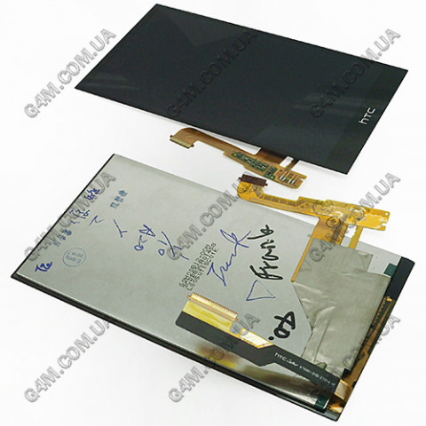 Дисплей HTC One M8 черный, с тачскрином