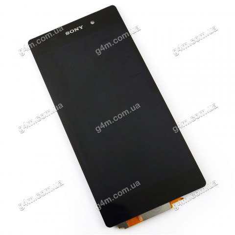 Дисплей Sony D6502, D6503 Xperia Z2 с тачскрином, черный (Оригинал)