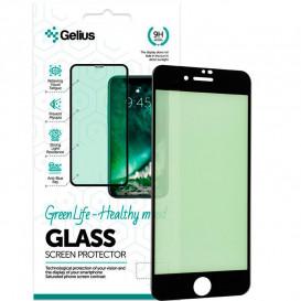 Защитное стекло Gelius Green Life для Apple iPhone 7, 8 (3D стекло черного цвета)