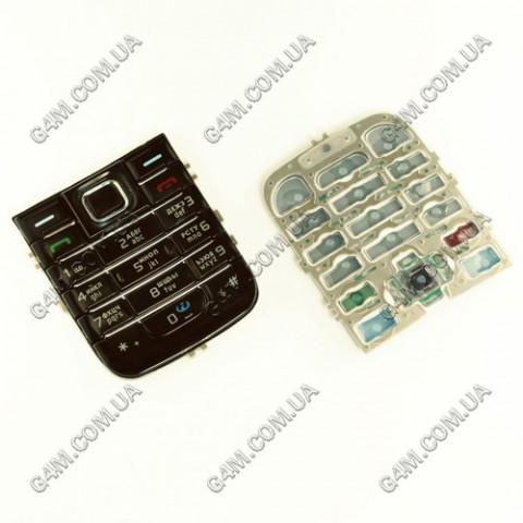 Клавиатура Nokia 6233 черная, русская (High Copy)