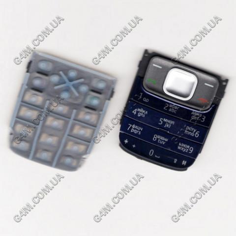 Клавиатура Nokia 1209 темно-синяя, кириллица, High Copy