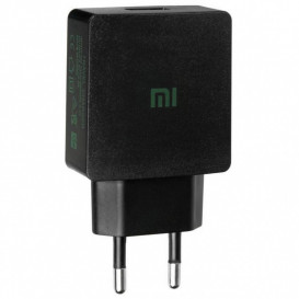 Сетевое зарядное устройство Xiaomi + кабель MicroUSB (YJ-06) 2A (черного цвета)
