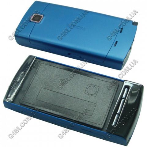Корпус Nokia 5250 синий с клавиатурой, High Copy