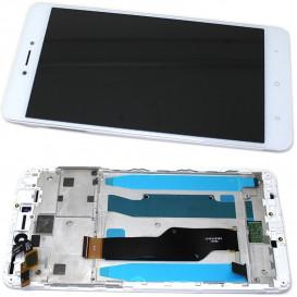 Дисплей Xiaomi Redmi Note 4x с тачскрином и рамкой, белый