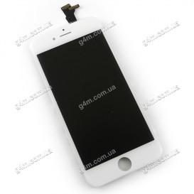 Дисплей Apple iPhone 6 с тачскрином и рамкой, белый, Оригинал