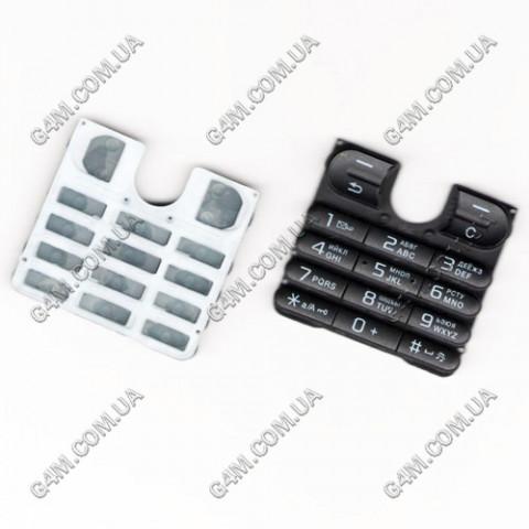 Клавиатура Sony Ericsson W200 чёрная, русская, High Copy