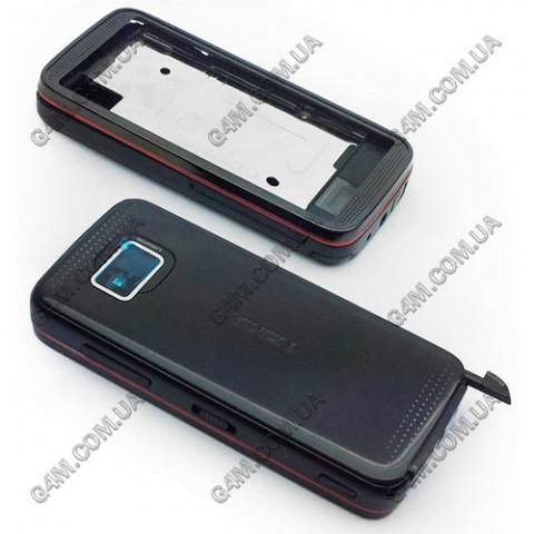 Корпус Nokia 5530 Xpress Music черный с красным кантом (High Copy)