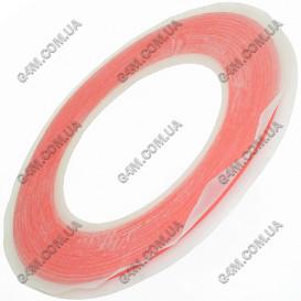 Двусторонний прозрачный, силиконовый скотч ширина 1 мм (30 метров)