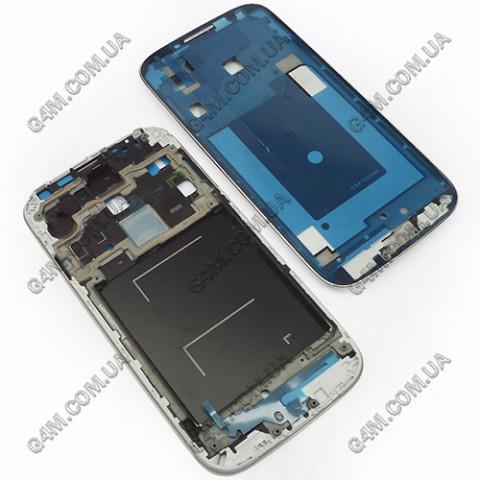 Рамка крепления дисплейного модуля для Samsung i9500 Galaxy S4 серебристая