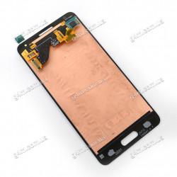 Дисплей Samsung G850F Galaxy Alpha с тачскрином, черный, снятый с телефона