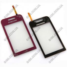 Тачскрин для Samsung S5230 LaFleur бордовый с клейкой лентой (High copy)