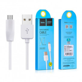 USB дата-кабель Hoco X1 Rapid MicroUSB 1 метр, белый