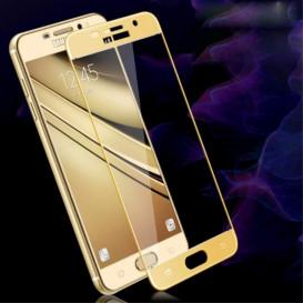 Защитное стекло Full Screen для Samsung A7100, A710F, A710FD, A710M, A710Y Galaxy A7 (2016) (3D стекло золотистого цвета)