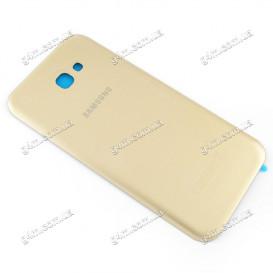 Задняя крышка для Samsung A720 Galaxy A7 (2017) золотистая (High copy)