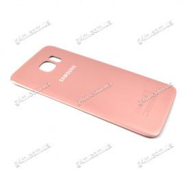 Задняя крышка для Samsung G935F Galaxy S7 Edge розовая (High copy)