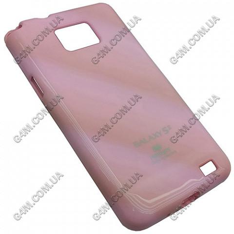 Накладка пластиковая MERCURY для Samsung i9100 Galaxy SII розовая