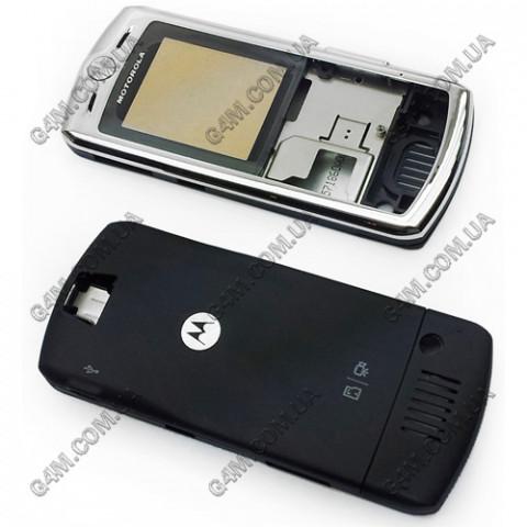 Корпус Motorola L7 серебристый с черным (High Copy)