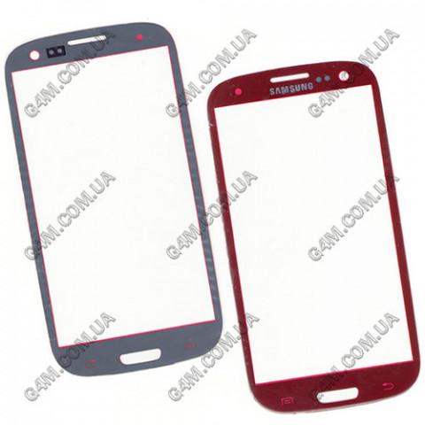 Стекло сенсорного экрана для Samsung i9300 Galaxy S3, I9305 Galaxy S3 красное