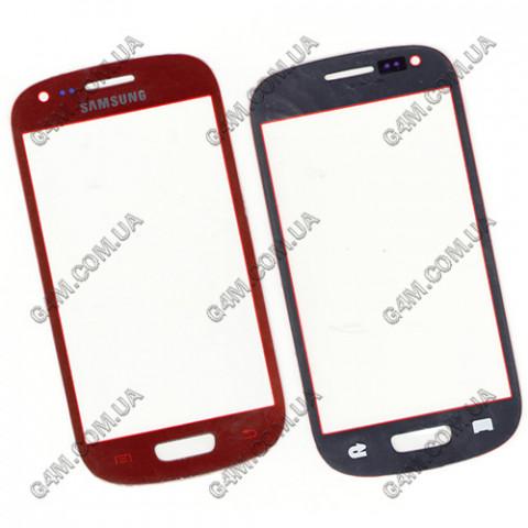 Стекло сенсорного экрана для Samsung i8190 Galaxy SIII Mini красное