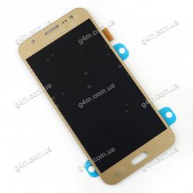 Дисплей Samsung J500F/DS, J500H/DS, J500M/DS Galaxy J5 с тачскрином, золотистый, без клейкой ленты, Оригинал