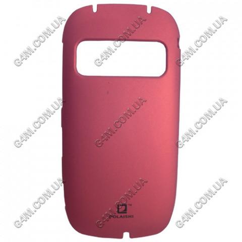Накладка пластиковая с защитной пленкой POLAISHI для Nokia C7-00 красный