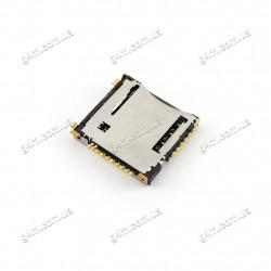 Коннектор Sim карты для Samsung i8530 Galaxy Beam, S5250 Wave 525, S5750, P5100 Galaxy Tab 2 10.1, P6800 Galaxy Tab, P7500 Galaxy Tab 10.1, P7510 Galaxy Tab 10.1