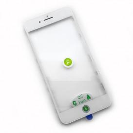 Стекло сенсорного экрана с рамкой и OCA пленкой для Apple iPhone 8 Plus белое