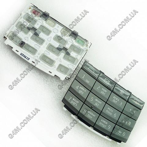 Клавиатура Nokia X3-02 темно-серая, русская (Оригинал)