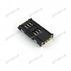 Коннектор Sim карты и карты памяти для Samsung S7560, S7562 Galaxy Star Plus Duos
