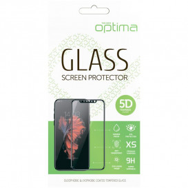 Защитное стекло Optima 5D для Samsung A405 (A40) (5D стекло черного цвета)