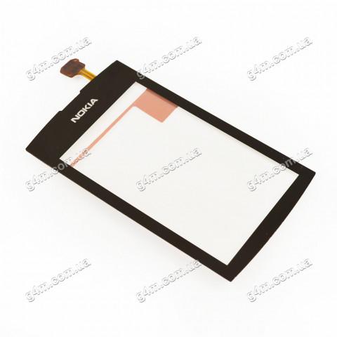 Тачскрин для Nokia Asha 305, Asha 306 черный (High copy)