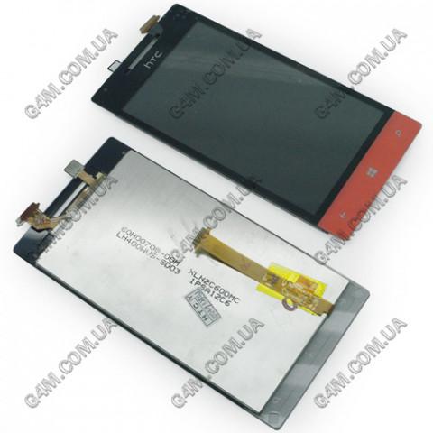 Дисплей HTC 8S, A620e Windows Phone с тачскрином, красный