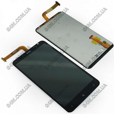 Дисплей HTC X310e Titan с тачскрином черный (High copy)